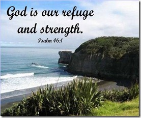 Psalm 46v1 (Muriwai Beach, New Zealand)